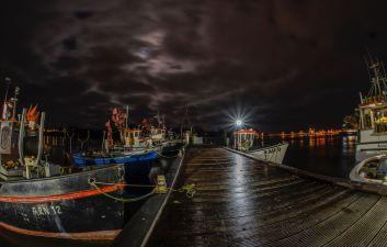 Nordhafen in der Nacht